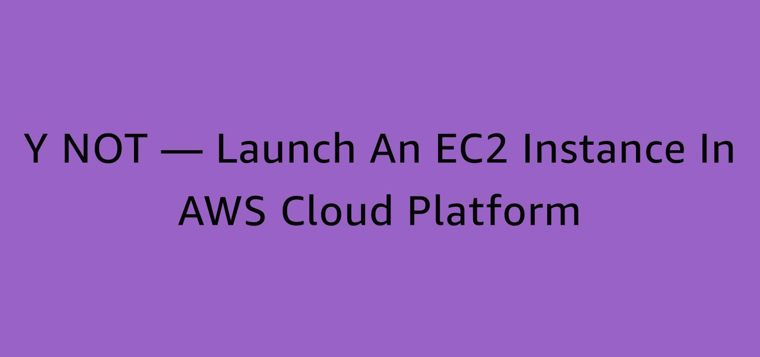 Y NOT — Launch an EC2 Instance in AWS Cloud Platform